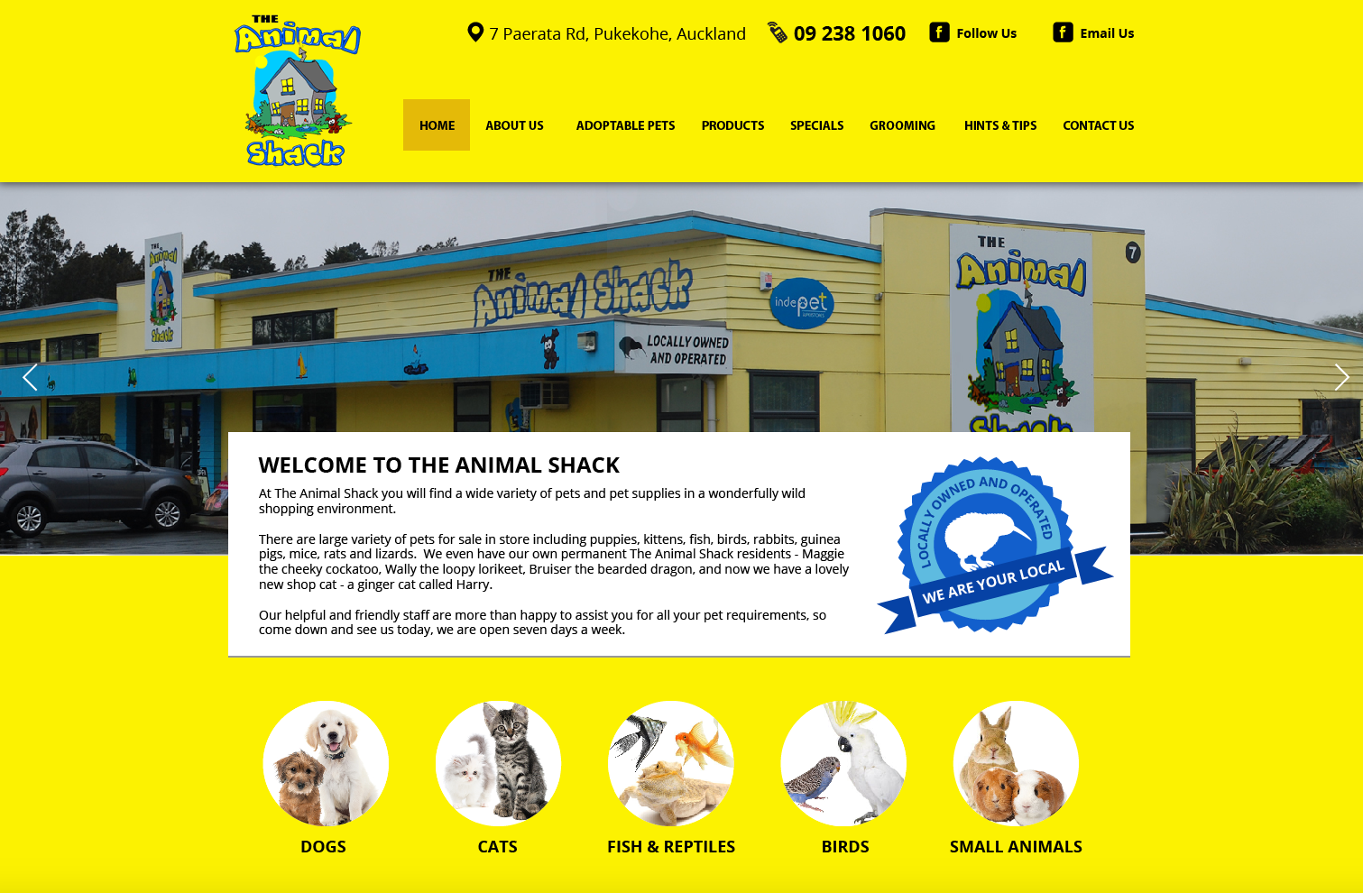 The Animal Shack Website